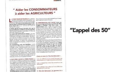 L'Association Bleu-Blanc-Cœur signataire du manifeste « Aider les consommateurs à aider les agriculteurs »
