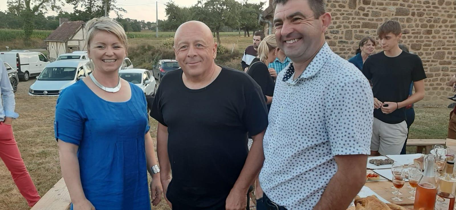 Christelle et Valery avec Thierry Marx