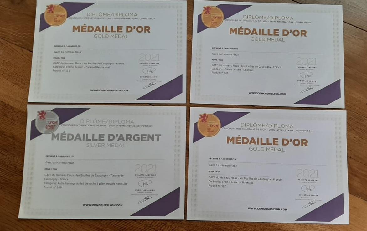 médailles Cauquigny