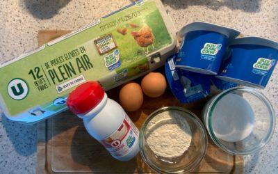 Aubin Paquier cuisine les produits Bleu-Blanc-Cœur