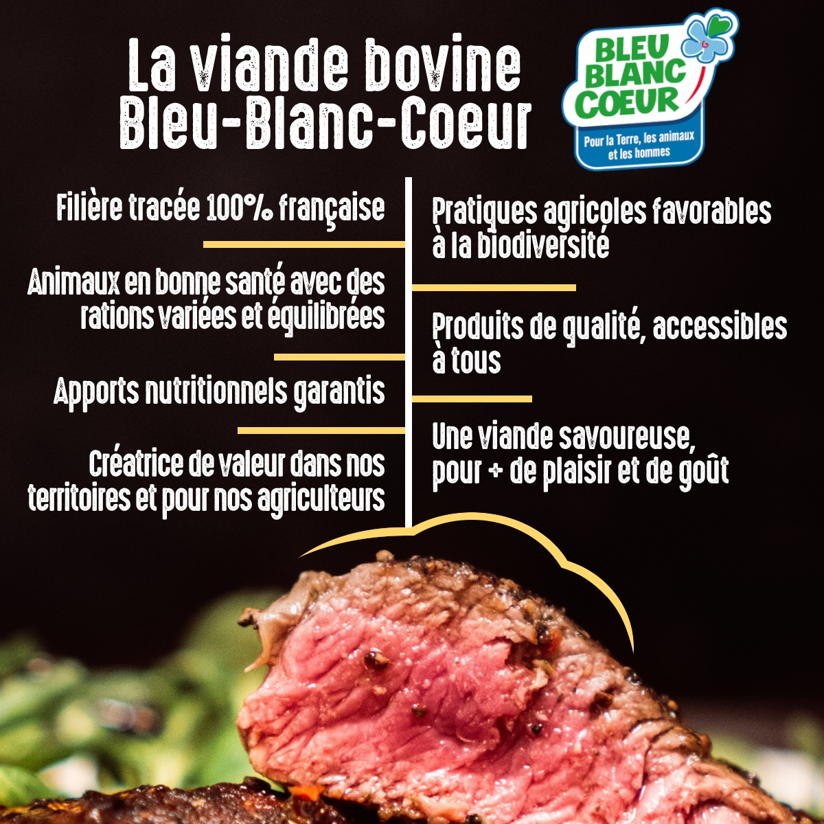 La viande bovine Bleu-Blanc-Coeur