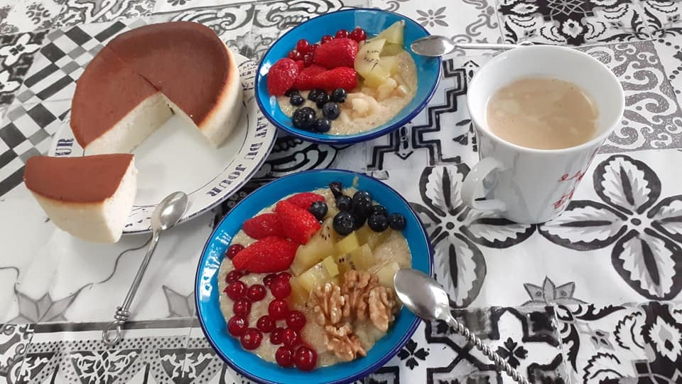petit déjeuner Bleu-Blanc-Coeur de Luc