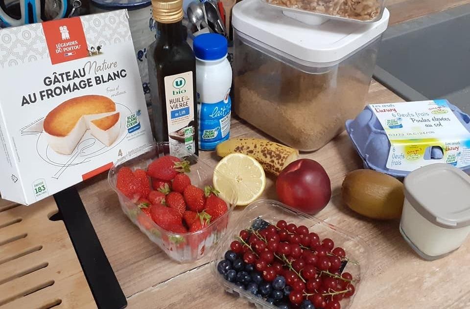 petit déjeuner Bleu-Blanc-Coeur Luc préparation