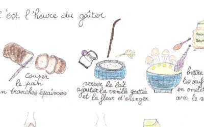 La recette du pain perdu, un dessin à dévorer