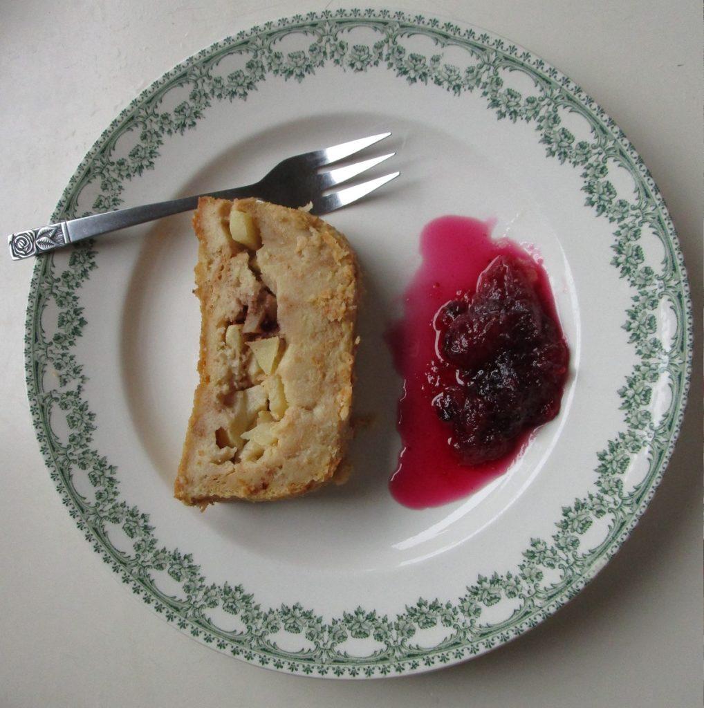Le pudding de pain aux pommes